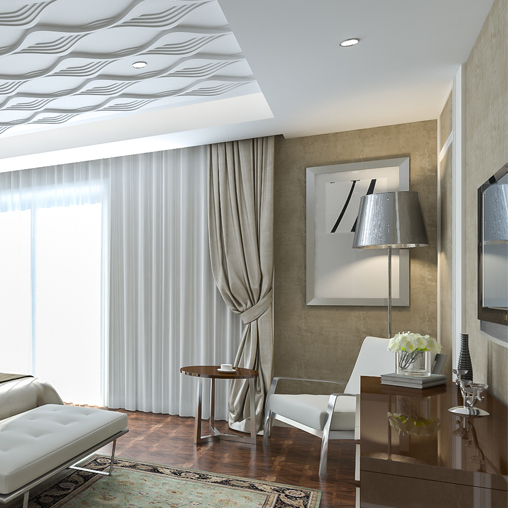 3d панели в спальне фото